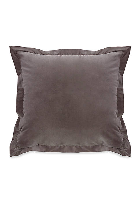 HiEnd Accents Whistler Square Velvet Pillow 18-in. x