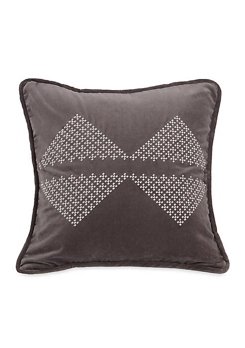 HiEnd Accents Whistler Diamond Pillow 18-in. x 18-in.
