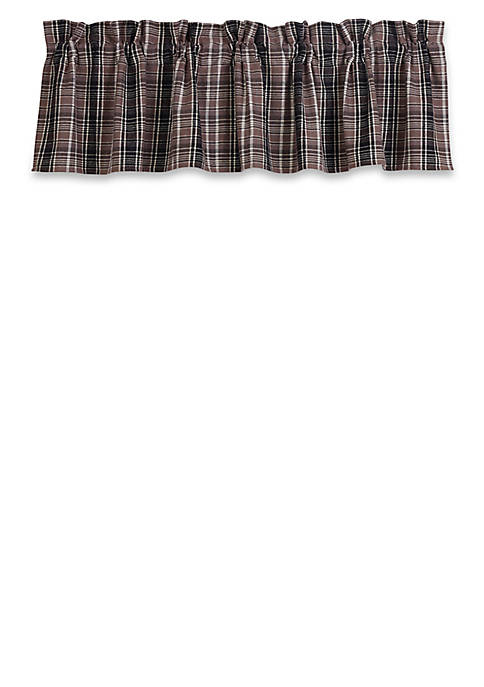 HiEnd Accents Whistler Plaid Valance Whistler Plaid Valance