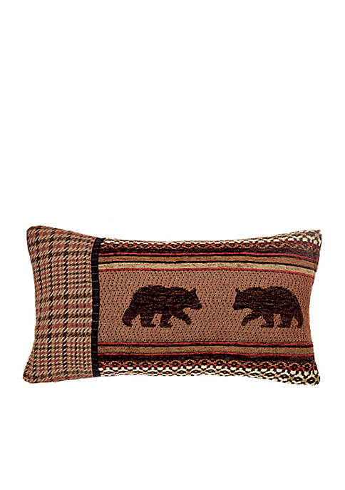 HiEnd Accents Bayfield Houndstooth & Bear Pillow