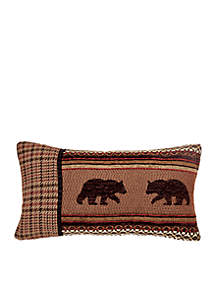 Bayfield Houndstooth & Bear Pillow