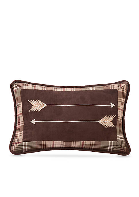 HiEnd Accents Huntsman Embroidered Arrow Pillow