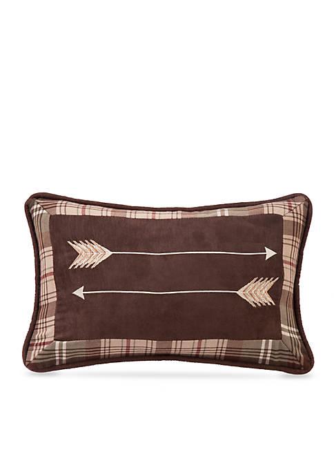 Huntsman Embroidered Arrow Pillow