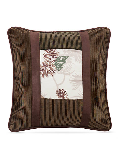 HiEnd Accents Forest Pine Pinecone Decorative Pillow