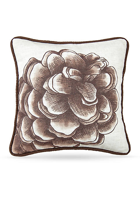 HiEnd Accents Forest Pine Watermark Pinecone Pillow
