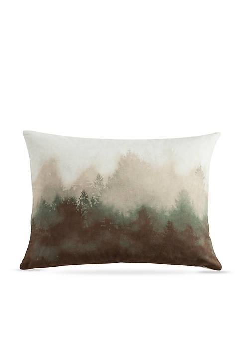 Forest Pine Watermark Decorative Pillow