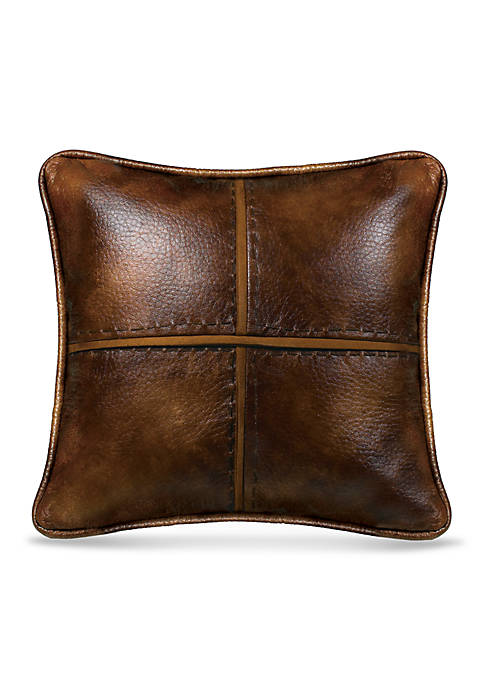 HiEnd Accents Brighton Cross Stitched Decorative Pillow
