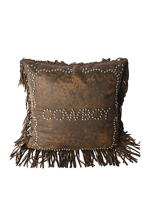 HiEnd Accents Calhoun Cowboy Decorative Pillow 18-in. x