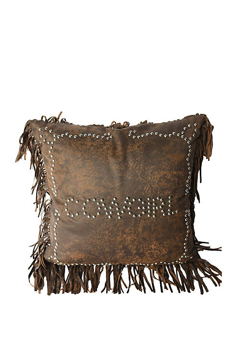 HiEnd Accents Calhoun Cowgirl Decorative Pillow 18-in. x