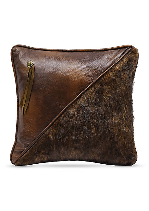 HiEnd Accents Half Faux Fur and Faux Leather