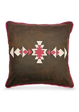 Faux Leather Decorative Pillow