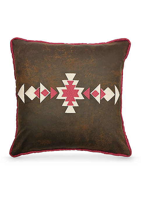 Faux Leather Decorative Pillow