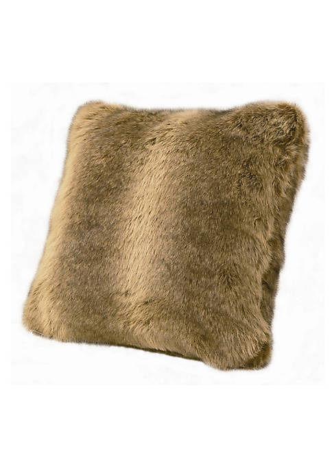 HiEnd Accents Briarcliff Faux Fur Wolf Pillow 18-in.