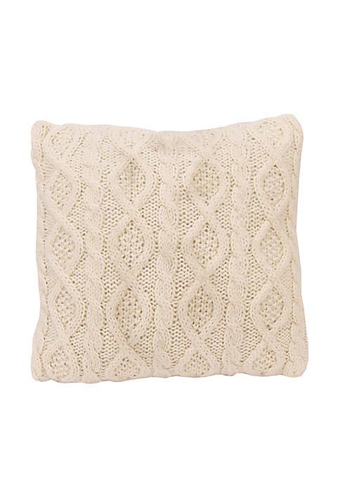 HiEnd Accents Cable Knit Decorative Pillow