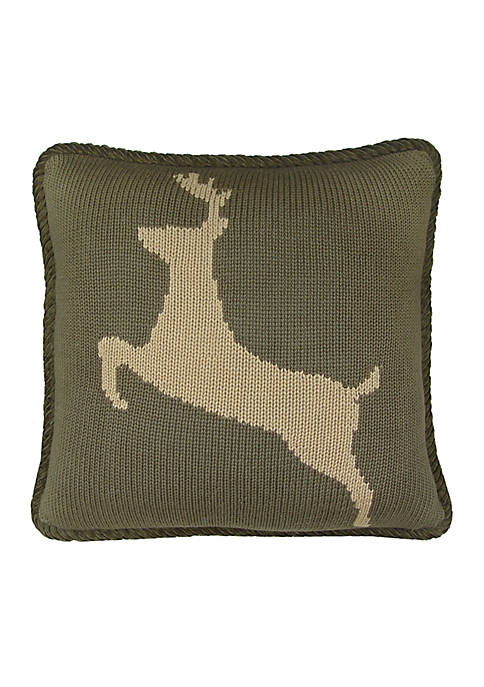 HiEnd Accents Wilderness Ridge Dear Decorative Pillow 17-in.
