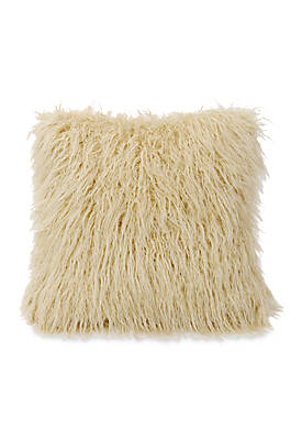 Ruidoso Faux Fur Decorative Pillow 18-in. x 18-in.