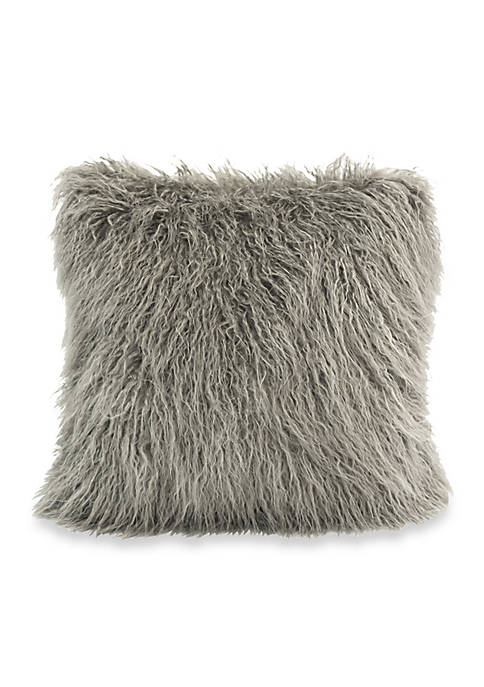 HiEnd Accents Mongolian Faux Fur Pillow