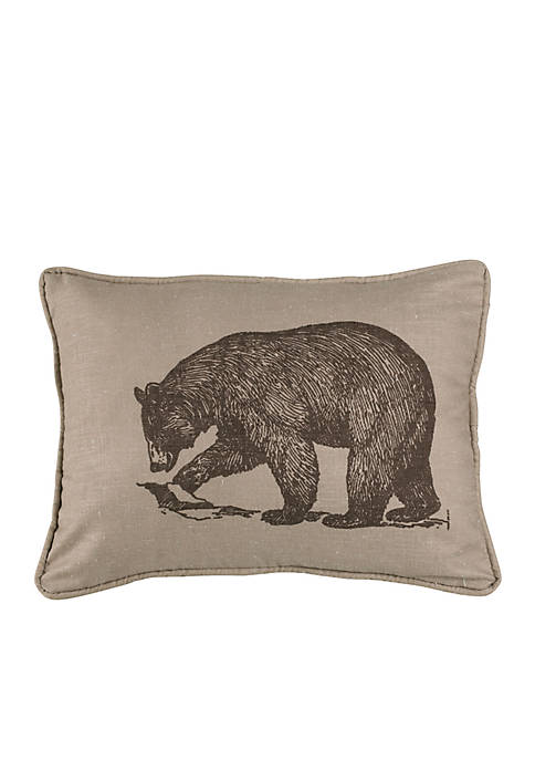HiEnd Accents Briarcliff Printed Walking Bear Envelope Pillow