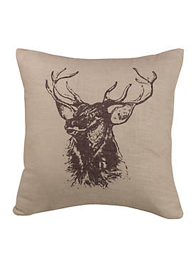 Briarcliff Elk Bust Decorative Pillow 18-in. x 18-in.