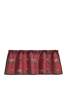 HiEnd Accents Woodland Plaid Valance