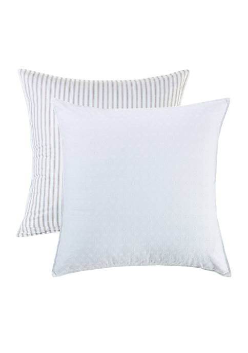 HiEnd Accents Striped and Eyelet Euro Sham