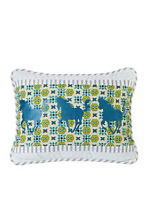 Horse Embroidery Pillow
