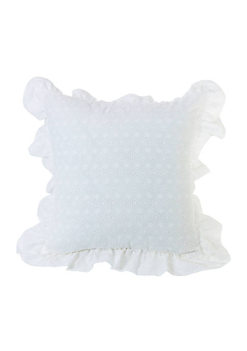 HiEnd Accents Ruffled Flange Eyelet Pillow