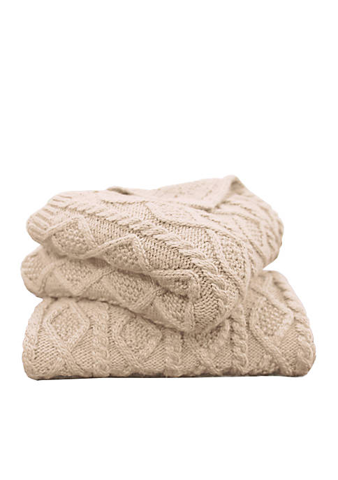 HiEnd Accents Cable Knit Throw