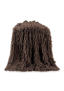 HiEnd Accents Mongolian Faux Fur Throw Blanket
