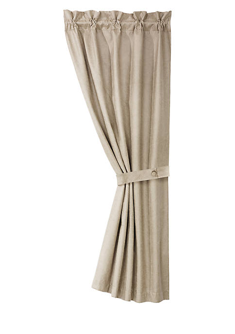 HiEnd Accents Silverado Faux Leather Curtain