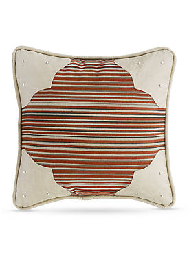 Faux Leather Corner Scallop Decorative Pillow