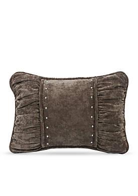 Silverado Shirred Fabric Decorative Pillow