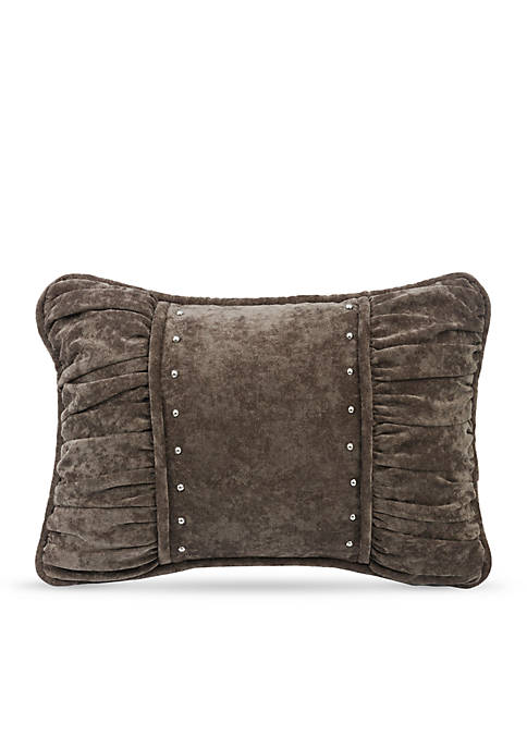 HiEnd Accents Silverado Shirred Fabric Decorative Pillow