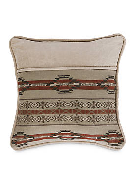 Silverado Decorative Pillow with Aux Leather