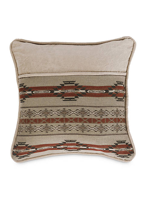 HiEnd Accents Silverado Decorative Pillow with Aux Leather