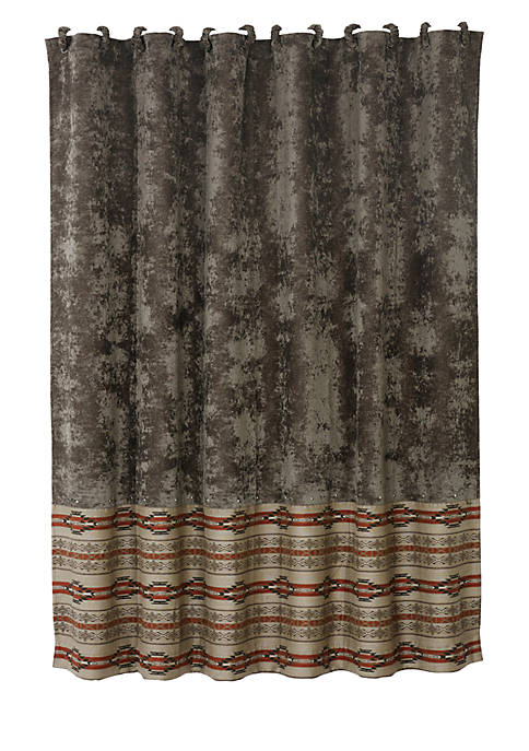 HiEnd Accents Silverado Matching Shower Curtain