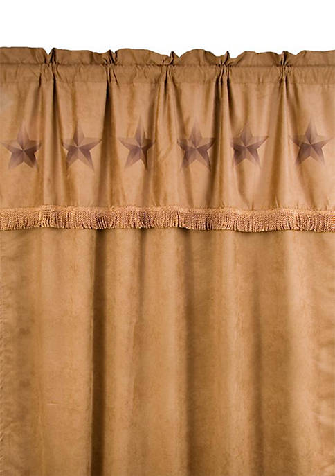 HiEnd Accents Luxury Star Faux Suede Panel Curtain