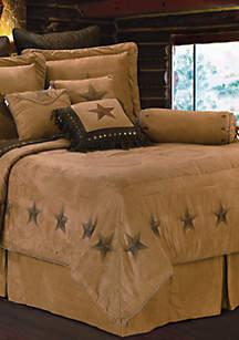 HiEnd Accents Luxury Star Queen Comforter Set 92-in. x 96-in.