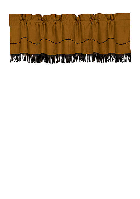Barbwire Fringed Valance 18-in. x 84-in.