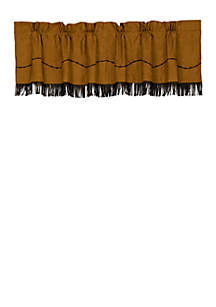 HiEnd Accents Barbwire Fringed Valance 18-in. x 84-in.