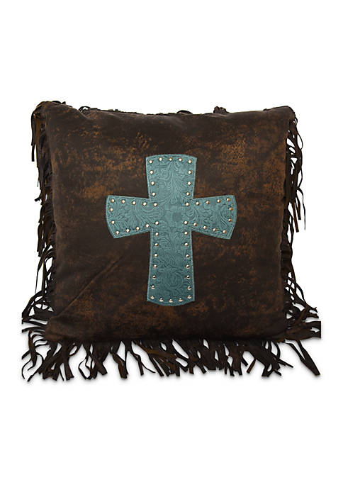 HiEnd Accents Cheyenne Cross App Decorative 18-in. x