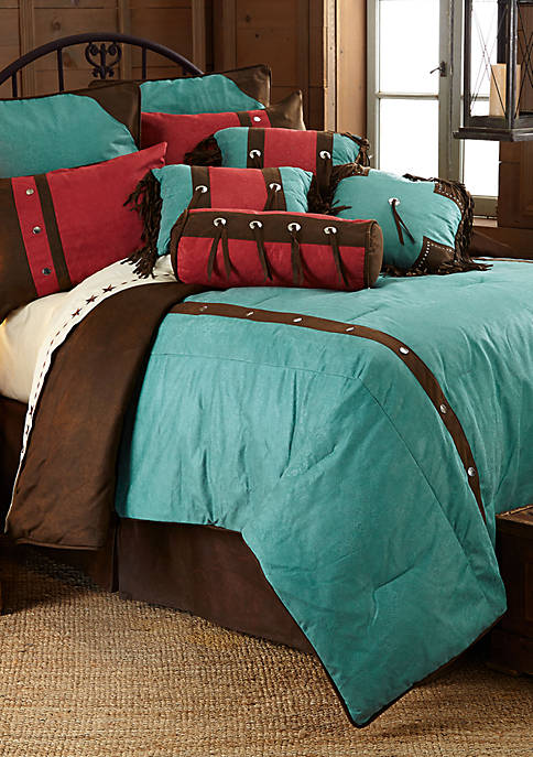 HiEnd Accents Cheyenne Twin Comforter Set 68-in. x