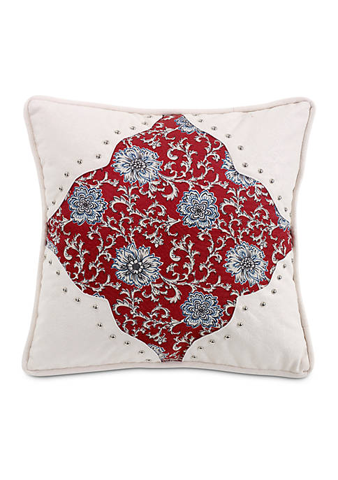 HiEnd Accents Bandera Floral Decorative Pillow 18-in. x