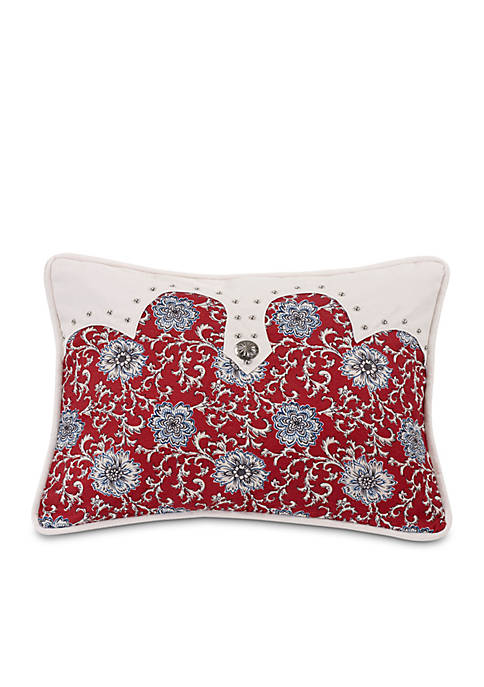 HiEnd Accents Bandera Oblong Floral Pillow 16-in. x