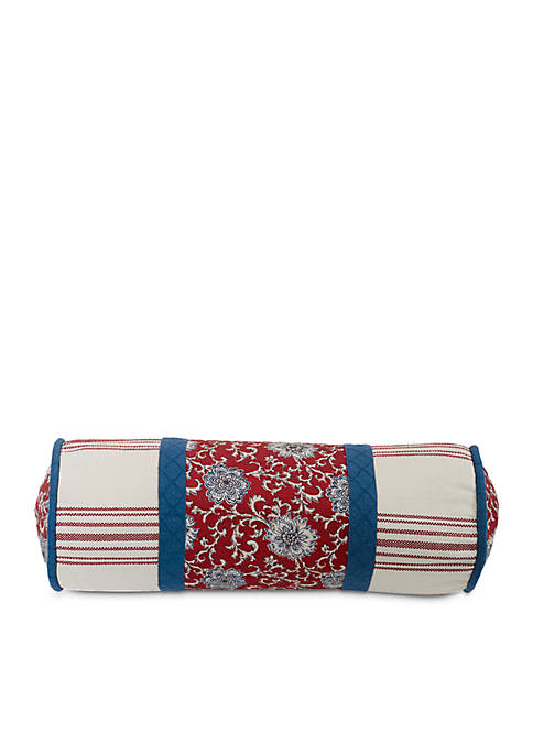 HiEnd Accents Bandera Floral Neckroll Pillow 8-in. x