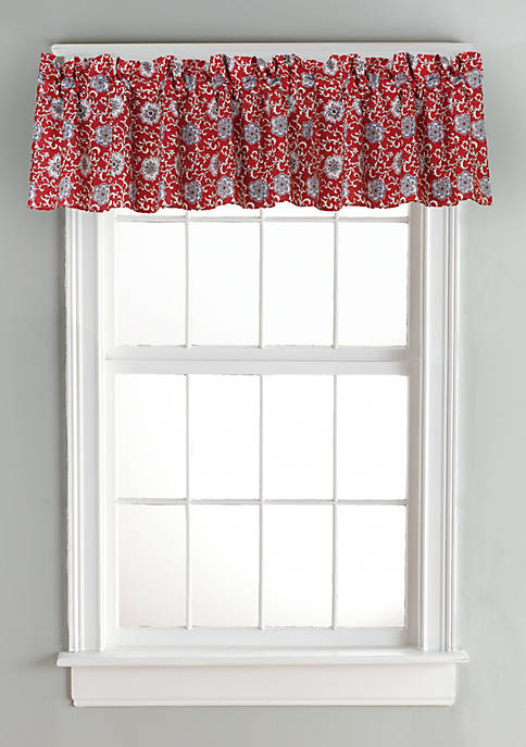 HiEnd Accents Bandera Floral Valance 18-in. x 84-in.