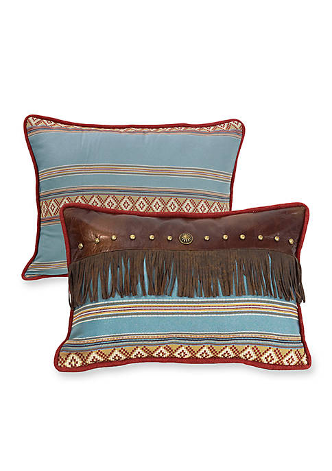 HiEnd Accents Ruidoso Oblong Striped Pillow 14-in. x