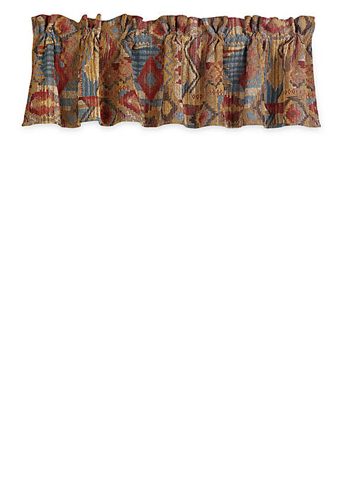 HiEnd Accents Ruidoso Patchwork Valance 18-in. x 84-in.