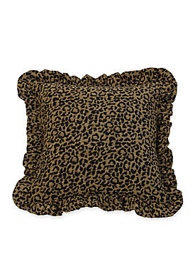 San Angelo Leopard Ruffled Pillow