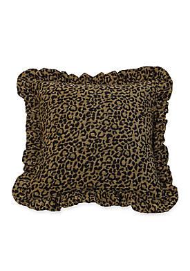 San Angelo Leopard Ruffled Pillow